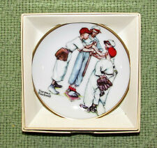 Vintage Norman Rockwell Mini Plate Collection Choosin Up Spring 1984 514 Boxed