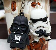 2 Pcs STAR WARS Warrior 3D Key Chains Metal Key Ring Pendant Gifts free delivery