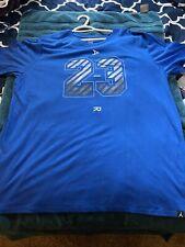 Nike Air Jordan Blue Dri-Fit T Shirt XXL #23 New