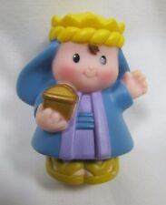 Fisher Price Little People CHRISTMAS NATIVITY WISEMAN Wise Man - Gold Crown Rare