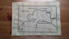 """1817 Allezard: Portolano Mappa Baia """"Marmara Rhodi"""" (Rodi Grecia Greece Grece)"""