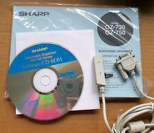 Sharp Wizard Oz-730 Oz-750 Oz-770 Computer Serial Pc Cable & Cd Sofware Disc