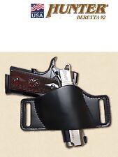 Leather Belt Slide Holster BERETTA 92 Black HUNTER OWB Small 1503