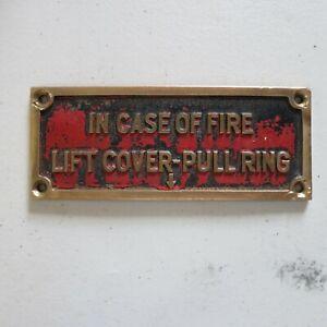 Gamewell Fire Brass Plaque