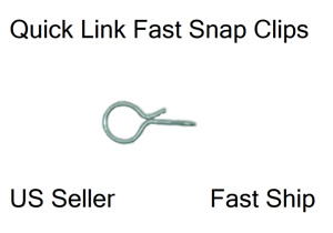 5 Medium Fas-snap Fast Snap No-Knot lure quick clip fishing fly line knot #1