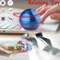 Metal Decompression Toy Finger Gyroscope Rotating Gyro Desk Kinetic gift Ba V3P1