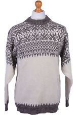 "Vintage Scandinavia Icelandic Quality Wool Winter Jumper Sweater 39"" - IL531"