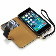 For Apple iPhone 5/5S Quality Floral Design Luxury PU Leather Wallet Case Cover