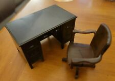 Renwal DESK & SWIVEL CHAIR Vintage Dollhouse Furniture Plastic
