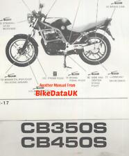 Honda CB350S NC22 (86-88) Official Factory Shop Repair Manual CB 350 450 S CT24