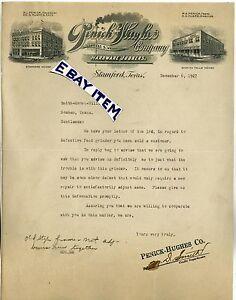 1927 Letterhead STAMFORD TEXAS Penick Hughes Company Hardware CLARK   M.D. Smith