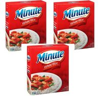 3 Boxes of Minute White Instant Enriched Long Grain Rice, Microwaveable 72 Oz.