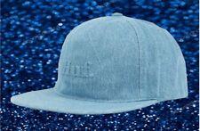 8a0bb8f9 New HUF Worldwide Mens Blue Strapback Hat Cap