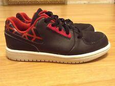 Nike Air Jordan 1 Retro Low Youth Black/Red Shoes 725097-001 Size 13C