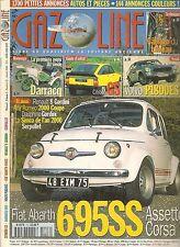 GAZOLINE 53 FIAT ABARTH 695 SS ASSETTO CORSA CITROEN GS VOLVO P1800 ES DARRACQ