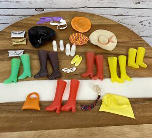 Vintage 1960s-70s Mattel Barbie Ken Doll Accessories Shoes Purses Hats Glasses