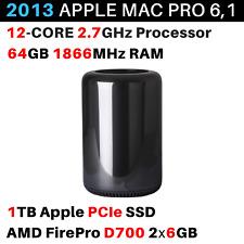 2013 Apple Mac Pro 2.7GHz 12-core / 64GB / 1TB / AMD FirePro D700 6GB - BTO/CTO