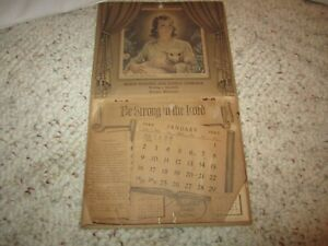 Vintage 1949 Advertising Calendar Olson Roofing Fosston, Minnesota!!!