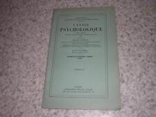 1933.conduite psychologique & effort mental imposé / Korngold.envoi autographe