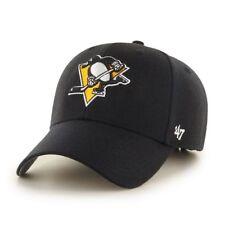Pittsburgh Penguins'47 NHL MVP Structured Adjustable Black Hat Cap Hockey OSFM