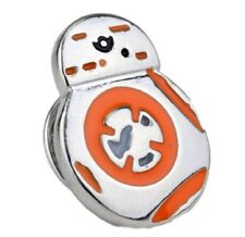 Orange/Silver Metal Enamel Pin Star Wars Mini Bb8 Droid
