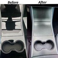 Car Center Console Wrap 5D Carbon Fiber Accessories For Tesla Model 3