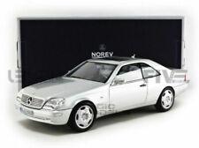 NOREV Mercedes-Benz S600 Coupé 1998 Échelle 1:18 Voiture Miniature - Silver Metallic (183446)