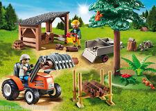 Playmobil - Holzfäller mit Traktor, Wald, Originalverpackt, Neu, 6814