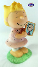 "Peanuts (Snoopy) Collectable  - Sally with pic ceramic figurine - 4"" tall (8219)"