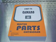 CAMARO MASTER PARTS CATALOG 67-1974 Nov 73 print