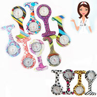 Nurse Watch FOB Tunic Doctor Hospital Pin Animal Pattern Silicone Cover Brooch