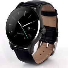 Smart Bluetooth Sport Tracker Wrist Watch K88H Phone for Android IOS Leather