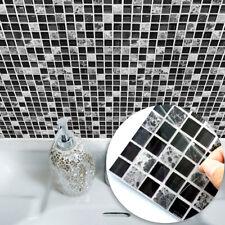 10pcs Diy Mosaic 3D Self Adhesive Wall Tile Sticker Bathroom Kitchen Home Decor