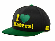 DGK I Love Haters Black & Green Adjustable Snapback Flat Bill Cap Hat