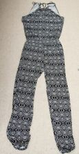 Marks & Spencer Black & White Stretch Jersey All in One Trouser Catsuit Size 12