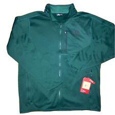 North Face - Mens Canyonlands Full Zip Fleece Jacket - Men's XL - Green - $80