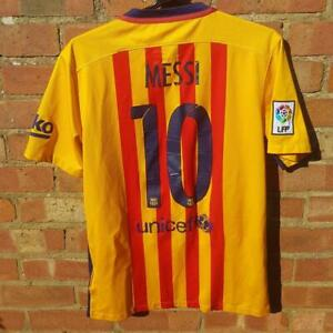 Messi 10 Barcelona Nike Away 2015 2016 Football Shirt Medium M jersey Unicef