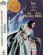 Verdi: Arias & Duet Placido Domingo Katia Ricciarelli CASSETTE ALBUM RCA Victor