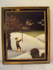 """Ölbild """"Der Lausbub"""" signiert von  Agnes Tan 1974"""