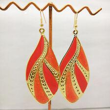 Women Drop Charm Earrings Fashion Gold Plated Enamel Dangle Hook Earrings