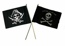 "12x18 12""x18"" Wholesale Combo Pirate Deadman's & Commitment Stick Flag"