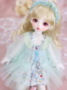 New Dress clothes Hair Wig shoes For 1/6 BJD Doll Qin A