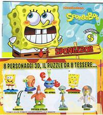 SPONGEBOB 8 PERSONAGGI serie completa GIOCHI PREZIOSI 2012