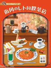 Re-ment Miniature Japanese Retro Cafe on a street Corner rement Full set of 8