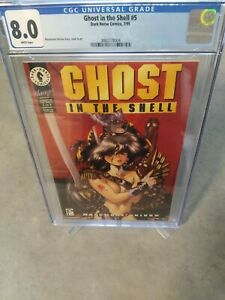 Ghost in the Shell #5 CGC 8.0 1995 REAL ATTRACTIVE COVER 😊