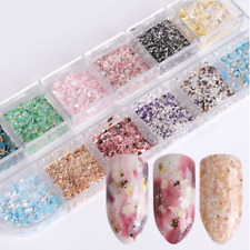 Nail Art Box - Flakes Marmoriert Glitter Pulver Nageldekoration #S35