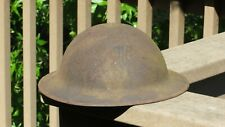 WW1 US ARMY MILITARY M1917 Division US Camouflaged Helmet With Liner