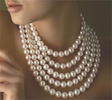 "100"" 9-10mm Genuine white south sea pearl necklace 14K Gold Clasp"