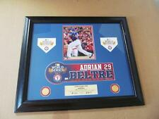 2011 World Series Nameplate - Adrian Beltre - Texas Rangers - 1 of 1 - Authentic