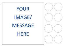 """Personalizzato Foto propria immagine SQUARE 7.5"""" + 8 Commestibili Iced/glassa caketopper"""